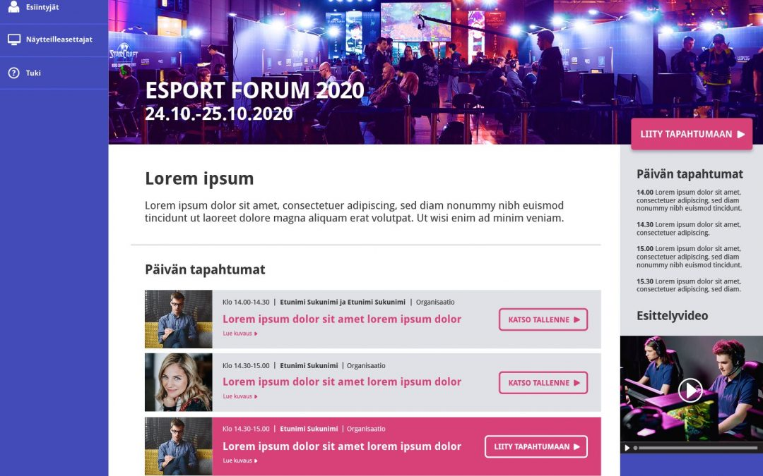 eSport Forum 24.-25.10.2020